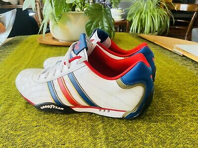 MENS ADIDAS GOODYEAR Trainers, Size 6.5 UK Red White And Blue ...