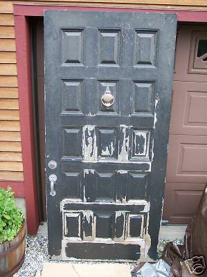 Large Antique Entry Door 15 Panel