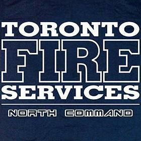 Toronto Fire Services North Command Canada T-shirt  XL