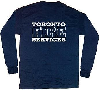 Toronto Fire Services Canada T-shirt  2XL  Long Sleeves