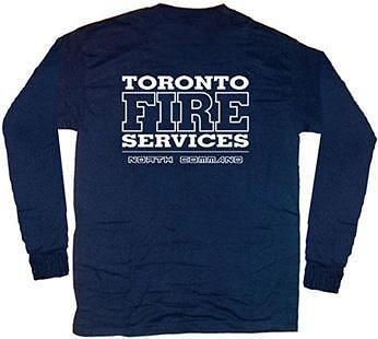 Toronto Fire North Command T-shirt  M  Long Sleeves