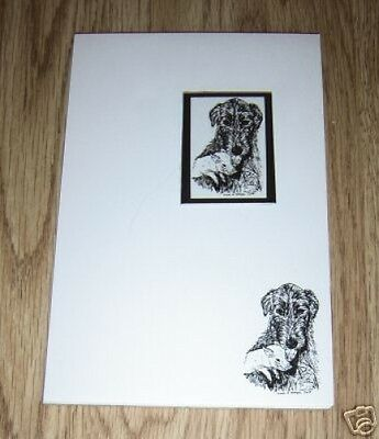 Irish Wolfhound and Piglet 2 Pc Set - Notepad and Magnet New