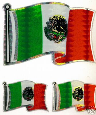 Mexico TriFlag Sticker LOT  NEW
