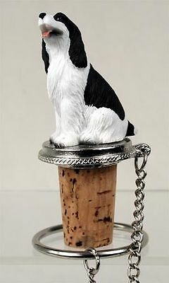 Springer Spaniel Black And White   Wine Stopper