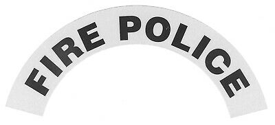 FIRE POLICE Highly Reflective Fire Helmet Crescent Decals - A PAIR