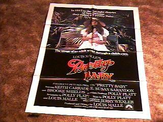 PRETTY BABY ORIG MOVIE POSTER 1978 BROOKE SHIELDS