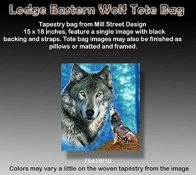 """WOLF 15X18"""" Tapestry Tote Bag by Mill Street Design"""