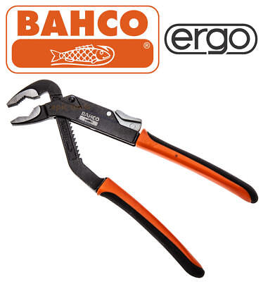 "BAHCO ERGO 8224 250mm (10"") Slip Joint Waterpump Pipe/Nut Plier, 45mm Capacity"
