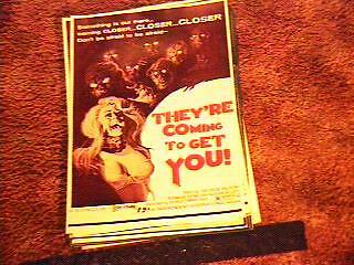 """They're Coming To Get You """"b"""" Pressbook Complete Horror"""