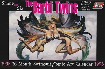 Barbi Twins (Shane & Sia) 1995 16 Month Swimsuit Calendar/1996 Topps Comics