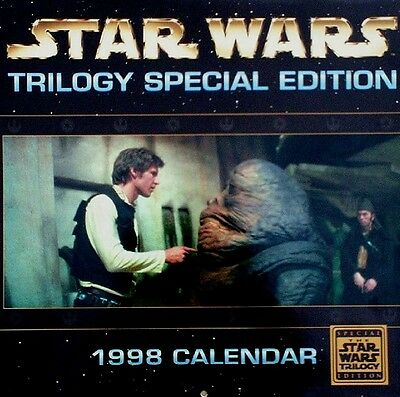 Star Wars Trilogy Special Edition 1998 Calendar/Mark Hamill/Harrison Ford/Droids