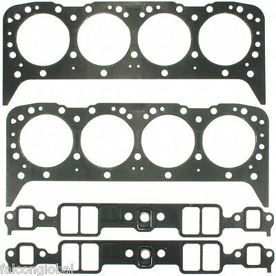 Mercruiser/OMC/Volvo/Chevy Marine 305/5.0/5.0L FULL Gasket Set Head+Intake 2PC