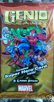 MARVEL Super Hero Genio Trading card Booster Pack