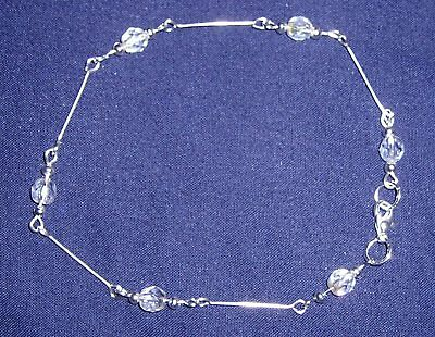 Beautiful Crystal Art Deco Style Ankle Chain