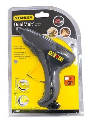 STANLEY GR25 25w/80w Heavy Duty Dual Heat Hot Melt Glue Gun, Uses 11mm To 12.5mm