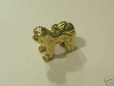 OLD ENGLISH SHEEPDOG  CHARM-PENDANT 14Kt GOLD10.3 Grams  Excellent New