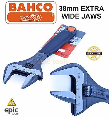 "BAHCO 9031 8"" 200mm Ergo EXTRA WIDE 38mm Adjustable Phosphated Wrench Spanner"
