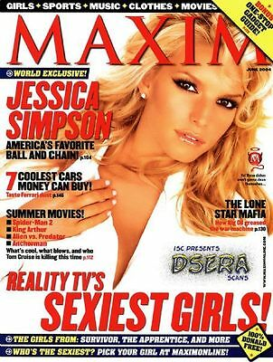 Maxim 6/04 Jessica Simpson/Sexiest Girls From Reality TV/Survivor/Bachelor Etc