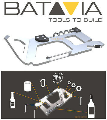 BATAVIA Multitool Bottle Can Opener,Screwdriver,Scraper,Nail Puller Tool,7062427