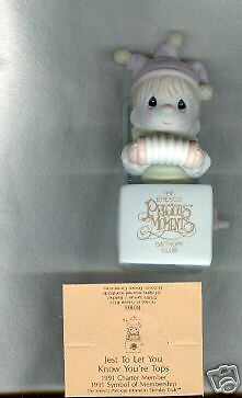 Precious Moments Figurine B0106 Jest Let You Know Tops