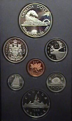 1986 Canada Proof Double Dollar Set