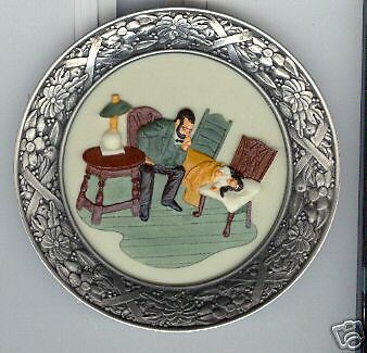 """Sebastian Plate 2103 The Doctor There Was A Time  by Prescott W Baston.6"""" Wide"""