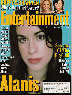 Entertainment Weekly #457 Alanis Morissette/Shannen Doherty/Cast Of Big Chill