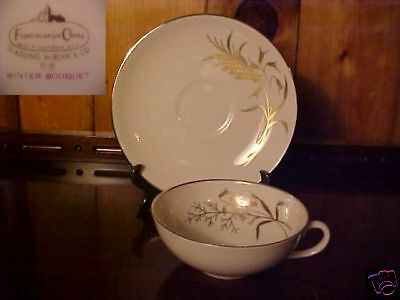 Franciscan Winter Bouquet Cup And Saucer Set