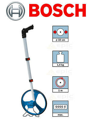 BOSCH Distance Measuring Wheel Surveyors Builders Road/Land + Stand & Bag GWM32