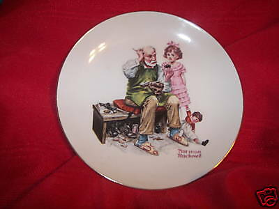 "6 1/2"" Norman Rockwell collector plate The Cobbler"