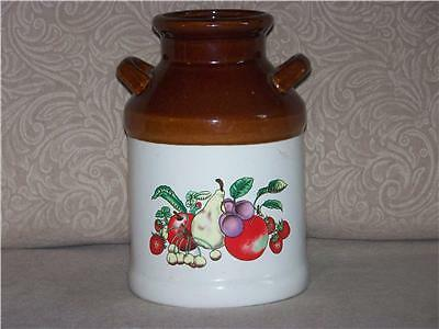 Collectible Milk Can replica kitchen Jar Fruit design