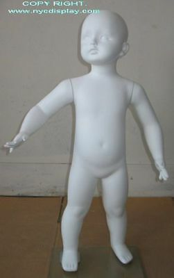 2T/3T Size Child Toddler  Full Size Mannequin Torso Form White color New!  CB2W