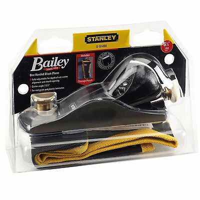 Stanley No.60 1/2 Wood Block Plane & Pouch 6-1/4in, 35mm Blade 13 Degrees 512060