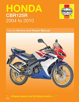 Haynes Manual 4620 - Honda CBR125 R (04 - 10) - CBR 125 workshop/service/repair