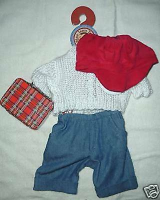 BLUE JEAN TEDDY BEAR BJ's BACK to SCHOOL OUTFIT-NIP