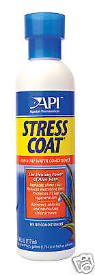 API Stress coat 240ml Aquarium Dechlorinator Fish tank Tap Safe Tropical