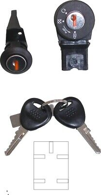 739100 Ignition Switch & Seat Lock - Peugeot Buxy & Zenith