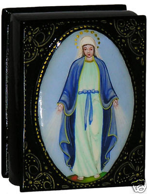 Russian hand painted The Immaculate Conseption box