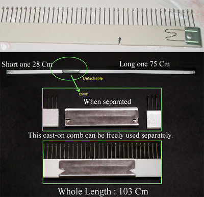Cast-On Comb 9mm Brother Knitting Machine Replacement Parts KH260 KH270