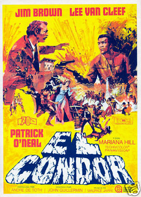 El Condor Lee Van Cleef Jim Brown vintage movie poster