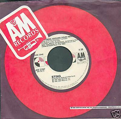 STING - FORTRESS AROUND YOUR HEART 45 RPM SINGLE
