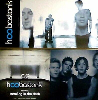 HOOBASTANK Crawling In The Dark PROMO Two Sided Poster DOUG ROBB Dan Estrin RARE