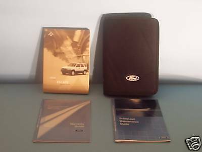 04 2004 Ford Escape owners manual