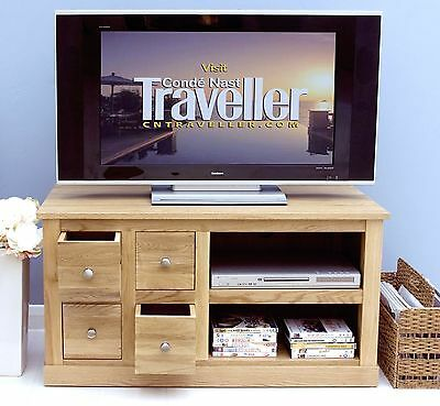 Solid OAK furniture widescreen TV DVD cabinet stand NEW
