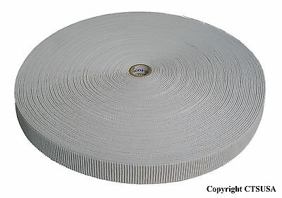 """Non-Roll Ribbed Elastic White 3/4"""" Inch Width 36YDS NEW"""
