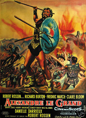 Alexander the Great Richard Burton vintage poster print
