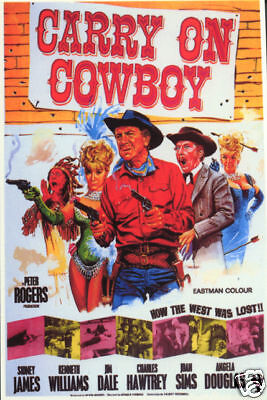 Carry on Cowboy (1966)Peter Rogers Cult Western Movie poster print