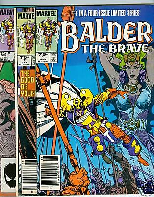 Balder the Brave #1-4 mini-series - 1985