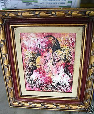 Vintage MARGOT SIGNED Oil Painting Young Child Portrait