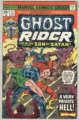 Ghost Rider #17 - 1976 Son of Satan X-Over